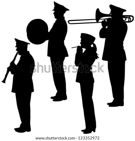 military musicians collection.   illustrations.