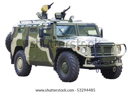 Military off-road car - stock photo