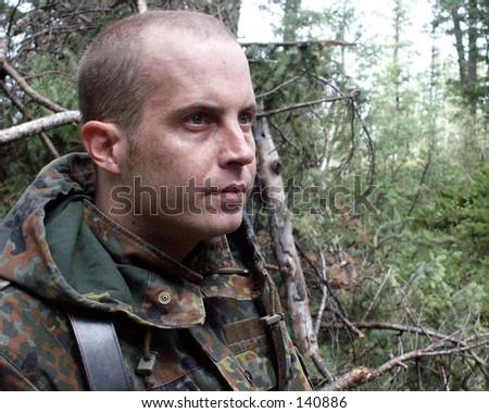 Military personelle. - stock photo