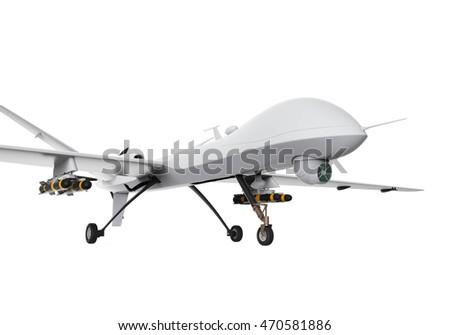 Military Predator Drone 3D Rendering