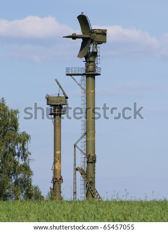 Military Radar - stock photo