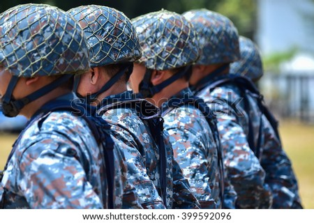 Military ranks, military combat  - stock photo
