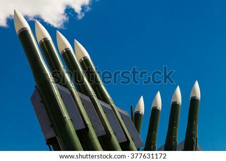 Military rockets - stock photo
