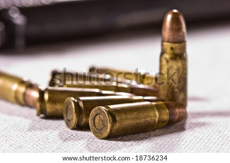 military series: macro picture of some bullets
