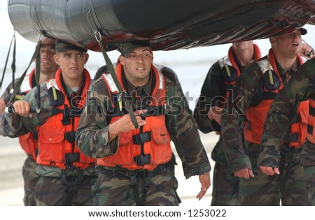 military training - stock photo