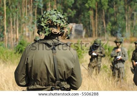 Military training combat - stock photo