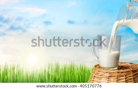 Milk. - stock photo