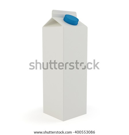 Milk and juice mock up on white background 3d render