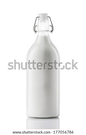 Milk bottle - stock photo