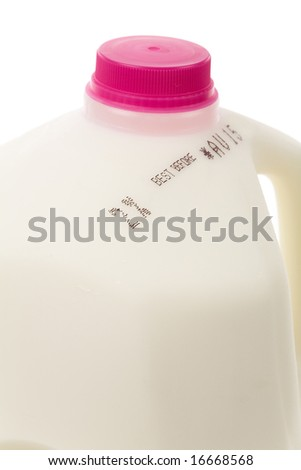 Milk Bottle close up for background