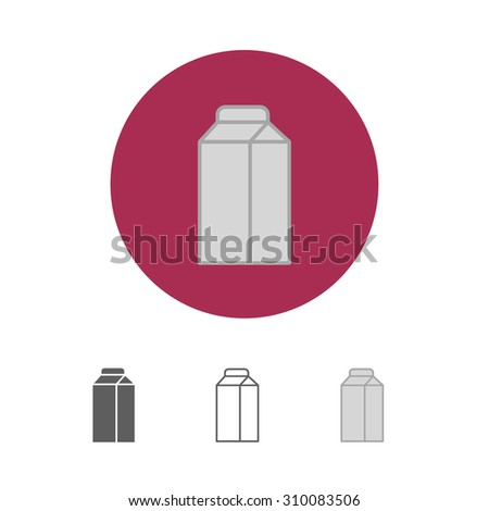 Milk box icon - stock photo