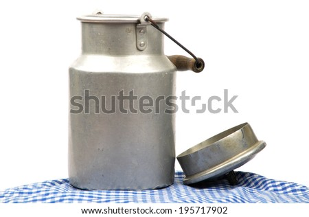 Milk can  - stock photo