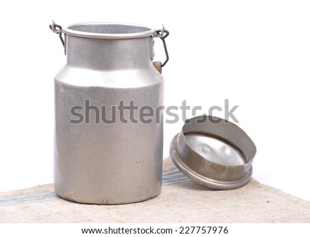 Milk can open - stock photo