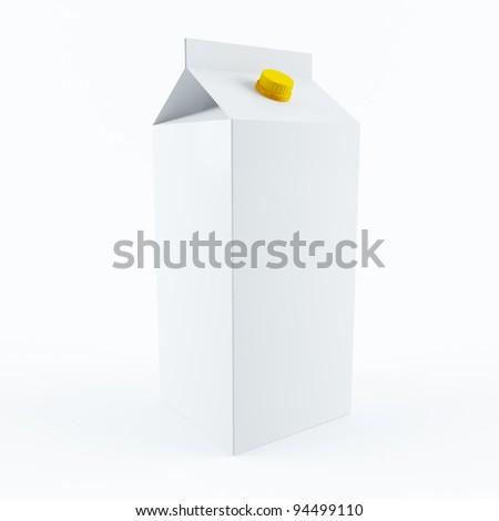 Milk carton - stock photo
