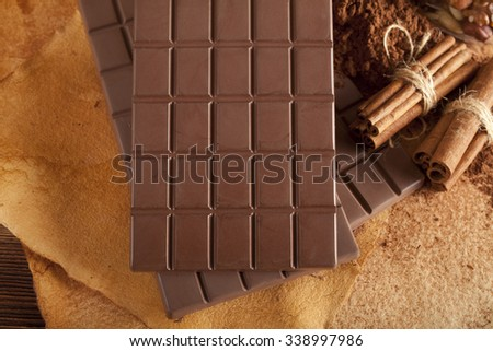 Milk chocolate - stock photo