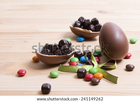 Milk Chocolate Egg - stock photo