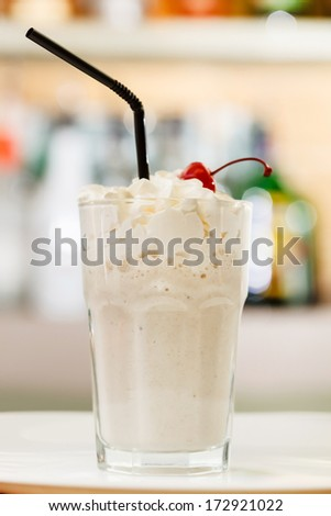 Milk cocktail  - stock photo