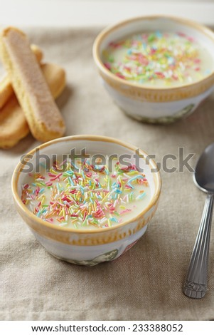 milk cream - stock photo
