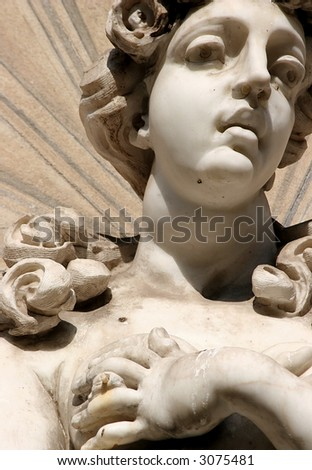milk fountain, Rome - stock photo