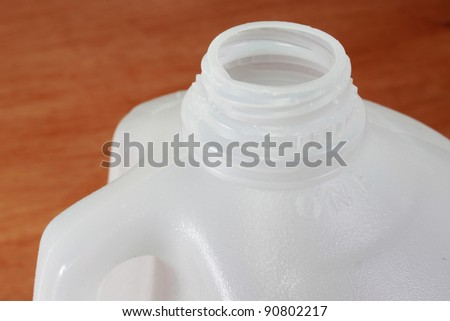 Milk jug to be recycled - stock photo