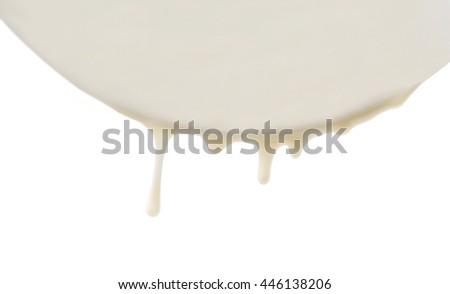 Milk motion, isolated on white - stock photo