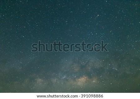 milky way and star astronomy at night sky - stock photo