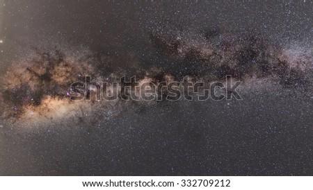 Milky way and stars night sky . - stock photo