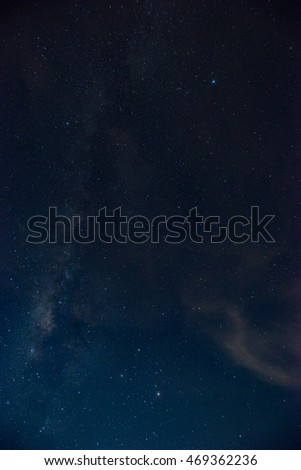Milky way background. Starlight on sky night