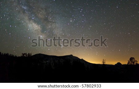 Milky Way from Olmstead Point - stock photo