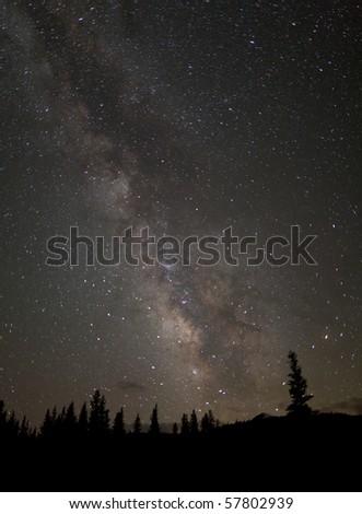 Milky Way from Tuolumne Meadows - stock photo