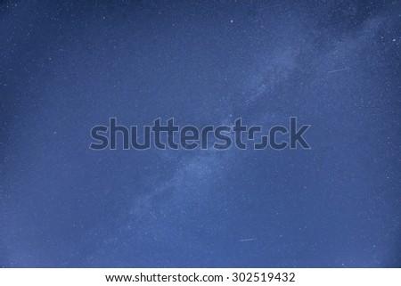 Milky Way galaxy image of night sky - stock photo