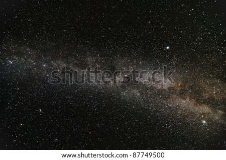 Milky Way Galaxy in open space - stock photo