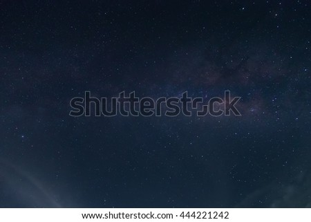 Milky way galaxy with stars and space dust in the universe fille