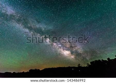 Milky Way in Southern Colorado - stock photo