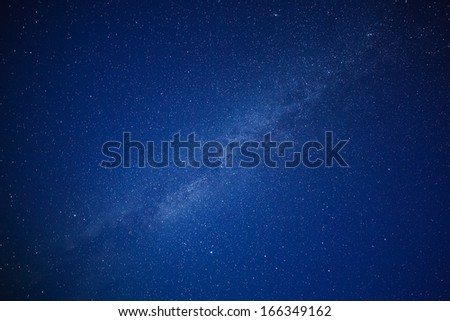 Milky Way in the night sky  - stock photo