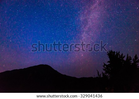 Milky Way over Diablo lake in North Cascade national park,Wa,Usa - stock photo