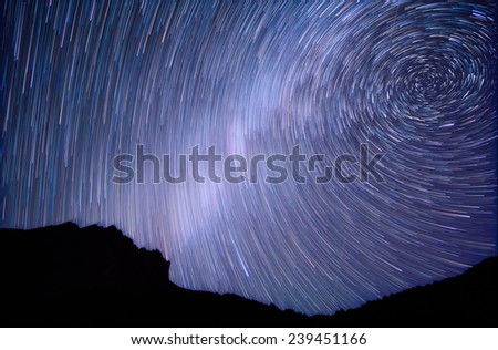 Milky Way. Spiral - stock photo