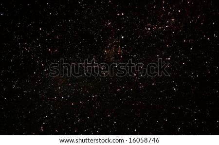 milky way stars - stock photo