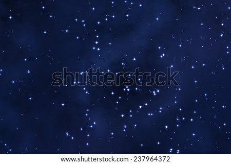 Milky way stars. - stock photo
