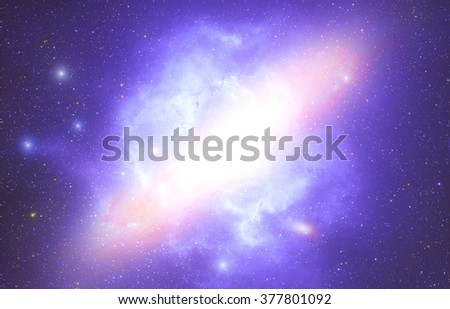 Milky way stars and star-dust in deep space / cosmos. Mosaic of my my astronomy work. No elements of NASA or other third party. - stock photo