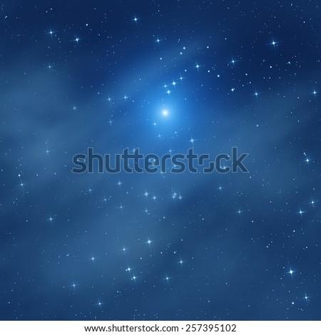 Milky way stars. Digital illustration. - stock photo