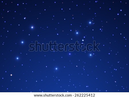 Milky way stars. Digital illustration. - stock photo