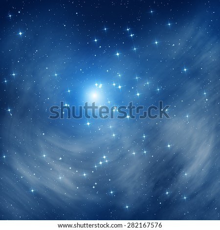 Milky way stars. Digital illustration.