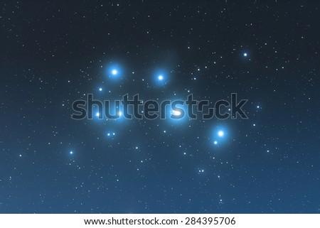 Milky way stars in constellation of Bull. Taken through my telescope. - stock photo