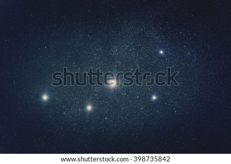 Milky way stars in deep space / cosmos. My astronomy work. No elements of NASA or other third party. - stock photo