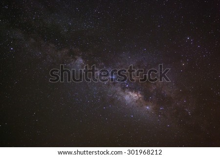 Milky way,taken with star tracker low noise high quality. - stock photo