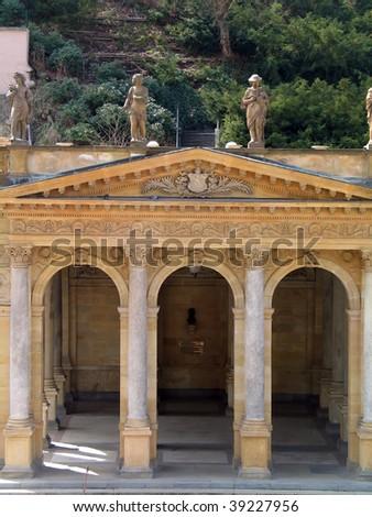 Mill colonnade (Mlynska kolonada), Karlovy Vary, Czech Republic - stock photo