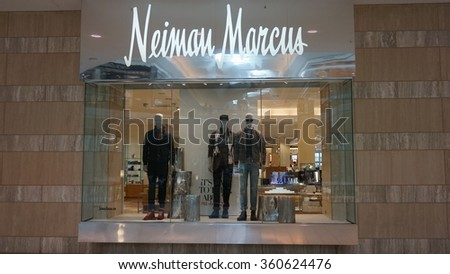 MILLBURN, NJ - AUG 9: The Mall at Short Hills in Millburn, New Jersey, as seen on Aug 9, 2015. The mall includes 160 specialty stores and restaurants, including Nordstrom, Neiman Marcus and Macys. - stock photo