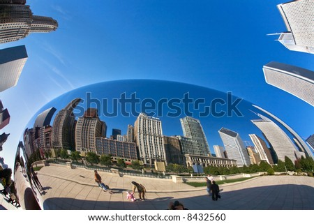 Millennium Park in Chicago. - stock photo