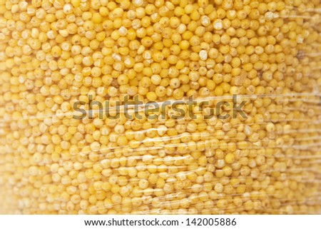 millet in a plastic bag